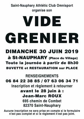 VIDE-GRENIER #Saint-Nauphary @ Centre du village | Saint-Nauphary | Occitanie | France
