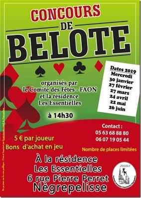 CONCOURS DE BELOTE #Nègrepelisse @ Résidence Les Essentielles