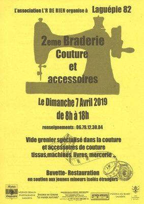 2ème BRADERIE COUTURE ET ACCESSOIRES #Laguépie @ Place du village Sous le Foirail