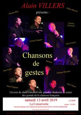 """ALAIN VILLERS DANS """"CHANSON DE GESTES"""" #Castelsarrasin @ La Conserverie"""