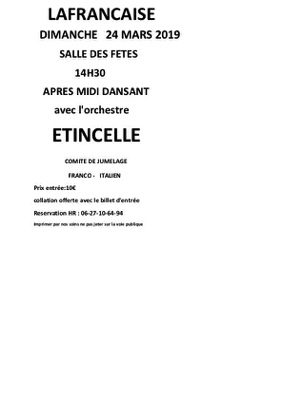 APRES MIDI DANSANT #Lafrançaise @ salle des fêtes
