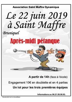 APRÈS-MIDI PÉTANQUE #Bruniquel @ Ecole Saint-Maffre