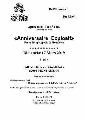 APRÈS MIDI THEATRE #Montauban @ Salle des fêtes de Saint Hilaire