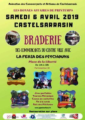 BRADERIE DES COMMERCANTS AVEC LA FERIA DES PITCHOUNS #Castelsarrasin