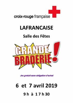 BRADERIE DE PRINTEMPS CROIX ROUGE #Lafrançaise @ salle des fêtes
