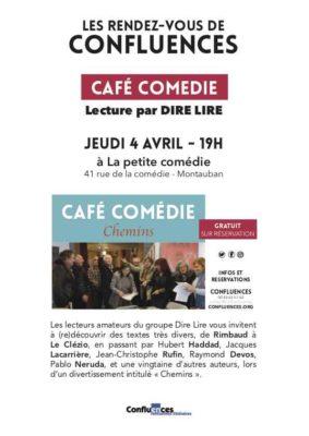 """CAFÉ COMÉDIE """"CHEMINS"""" #Montauban @ Confluences - La petite comédie"""