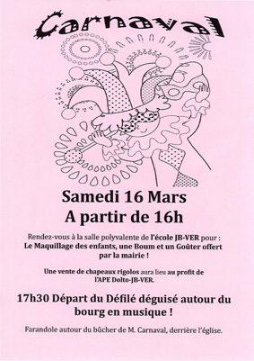 CARNAVAL DE L'ÉCOLE JB-VER #Lafrançaise @ École JB-VER