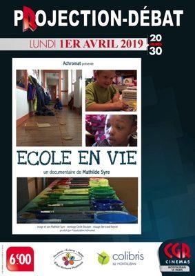 CINÉ-DÉBAT ECOLE EN VIE #Montauban @ Cinéma CGR Le Paris