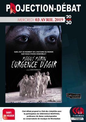 CINÉ-DÉBAT MAGUY MARIN #Montauban @ Cinéma CGR Le Paris