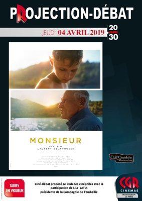 CINÉ-DÉBAT MONSIEUR #Montauban @ Cinéma CGR Le Paris