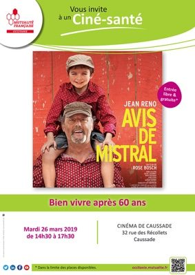 CINE-SANTE - BIEN VIVRE APRÈS 60 ANS #Caussade @ Cinéma de Caussade