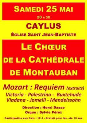 CONCERT DU CHOEUR DE LA CATHÉDRALE DE MONTAUBAN #Caylus @ Eglise Saint-Jean-Baptiste