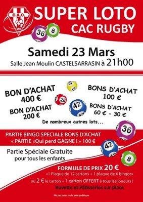 LOTO DU CAC RUGBY #Castelsarrasin @ Salle Jean Moulin