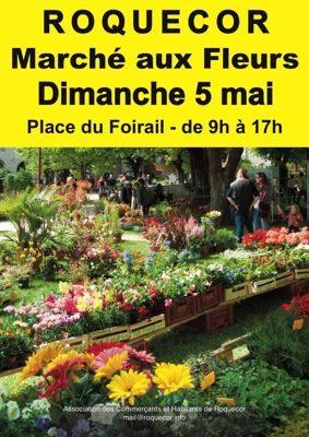 MARCHÉ AUX FLEURS #Roquecor @ Place du foirail