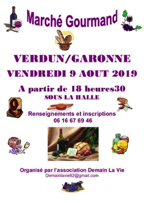 MARCHE GOURMAND #Verdun-sur-Garonne @ HALLE