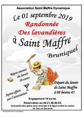 RANDONNÉE DES LAVANDIÈRES #Bruniquel @ Lavoir