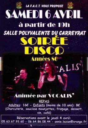 SOIRÉE DISCO ANNÉES 80 #Montauban @ salle polyvalente du Carreyrat