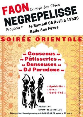 SOIREE ORIENTALE #Nègrepelisse @ Salle des Fêtes