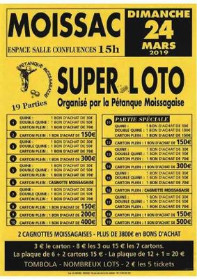 SUPER LOTO PETANQUE MOISSAGAISE #Moissac @ Espace Confluences