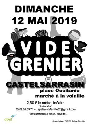 VIDE GRENIER #Castelsarrasin @ Marché aux volailles