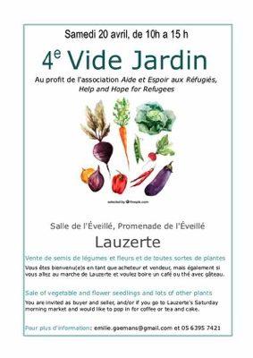 4ème VIDE JARDIN #Lauzerte @ Salle de l'éveillé promednade de l'éveillé