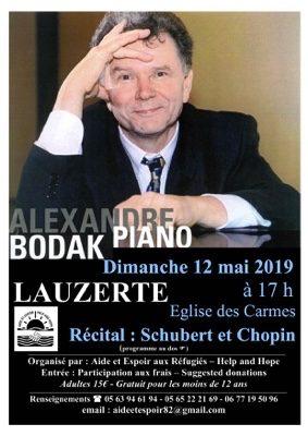 ALEXANDRE BODAK PIANO #Lauzerte @ Eglise des Carmes