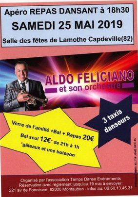 BAL MUSETTE / REPAS AVEC L'ORCHESTRE ALDO FELICIANO #Lamothe-Capdeville @ Salle des fêtes de Lamothe Capdeville