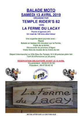 BALADE MOTO VIA LA FERME DU LACAY #La Ville-Dieu-du-Temple @ Balade Moto