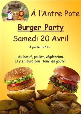 BURGER PARTY #Montauban @ L'Antre Pote