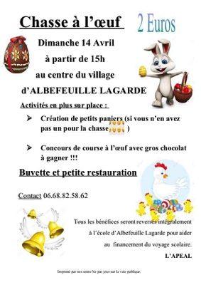 CHASSE À L'OEUF #Albefeuille-Lagarde @ Place du village