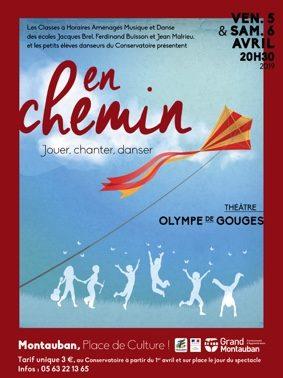EN CHEMIN, JOUER, CHANTER, DANSER #Montauban @ Le théâtre Olympe de Gouges