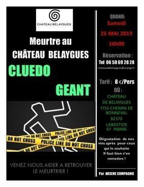 CLUEDO GÉANT #Labastide-Saint-Pierre @ Château de Belaygues