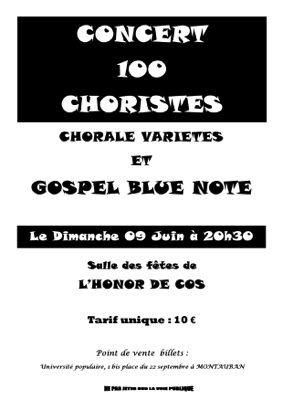 CONCERT 100 CHORISTES #L'Honor-de-Cos @ Salle des fêtes de L'Honor de cos