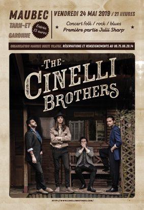 "CONCERT ""THE CINELLI BROTHERS"" #Maubec @ Salle des fêtes"