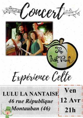 CONCERT THE IRISH PEACH - EXPÉRIENCE CELTE #Montauban @ Lulu La Nantaise