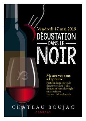 DÉGUSTATION DANS LE NOIR #Campsas @ Château BOUJAC