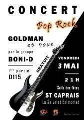 GOLDMAN ET NOUS PAR BONI-D ET D115 #La Salvetat-Belmontet @ salle des fêtes de St-Caprais