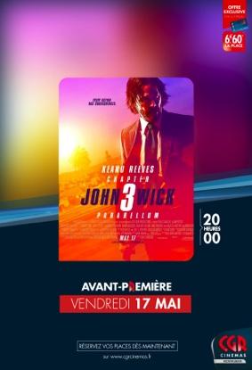 JOHN WICK PARABELLUM - AVANT-PREMIÈRE #Montauban @ CGR MONTAUBAN