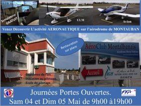 JOURNÉES PORTES OUVERTES 4 ET 5 MAI 2019 #Montauban @ AERODROME DE MONTAUBAN