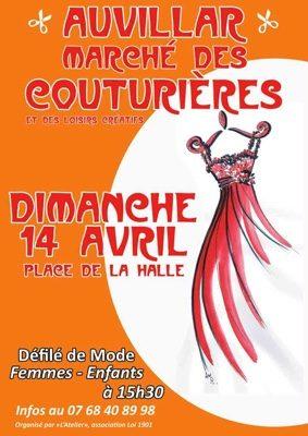 MARCHÉ DES COUTURIÈRES ET DES LOISIRS CRÉATIFS #Auvillar @ Place de la Halle