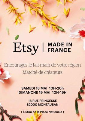 MARCHÉ DE CRÉATEURS ETSY #Montauban @ Chandra Yoga Studio