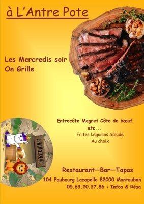 MERCREDI GRILLADES #Montauban @ L'Antre Pote