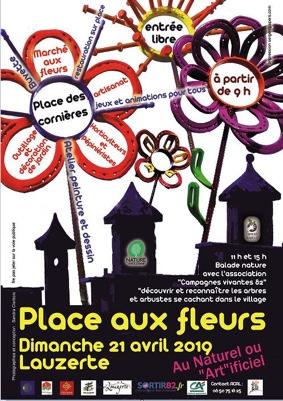PLACE AUX FLEURS #Lauzerte @ Place des cornières