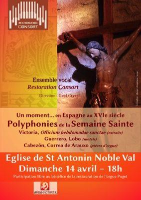 POLYPHONIES DE LA SEMAINE SAINTE #Saint-Antonin-Noble-Val @ Eglise