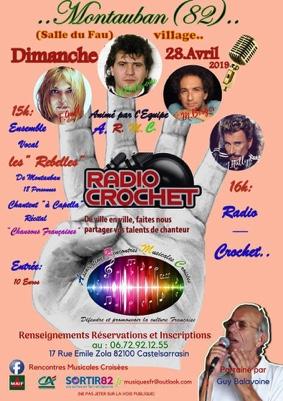 """RADIO-CROCHET #Montauban @ Salle des Fêtes du """"Fau"""""""