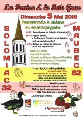 RANDONNÉE DE LA FRAISE ET DU FOIE GRAS #Maubec @ Halle de Solomiac