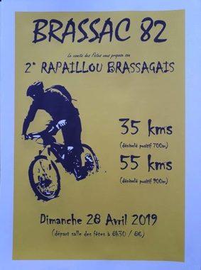 RANDONNÉE VTT : LE RAPAILLOU BRASSAGAIS #Brassac @ Salle des fêtes de Brassac