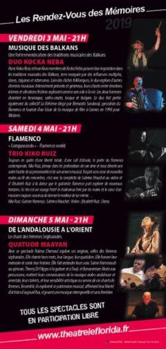 RENDEZ-VOUS DES MÉMOIRES 2019 #Septfonds @ Théâtre Le Florida