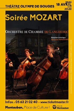 SOIRÉE MOZART - ORCHESTRE DE CHAMBRE DU LANGUEDOC #Montauban @ Le théâtre Olympe de Gouges