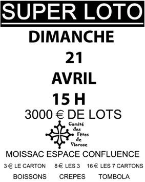 SUPER LOTO DE PÂQUES #Moissac @ Espace confluence